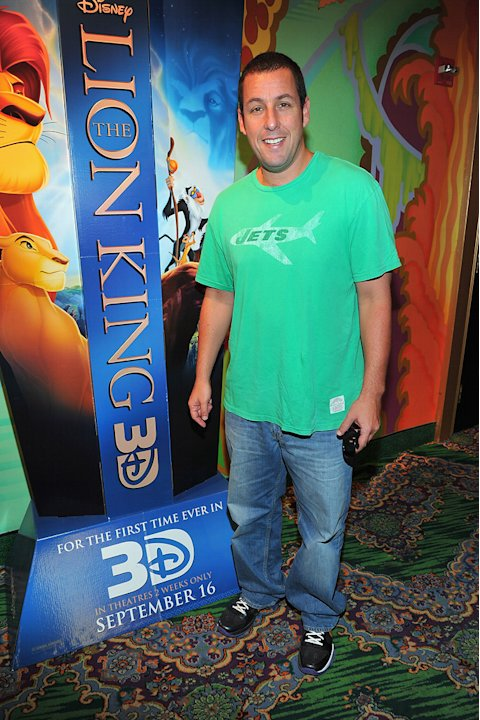 The Lion King 3D premiere 2011 Adam Sandler