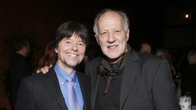 IMAGE DISTRIBUTED FOR IDA - Ken Burns and Werner Herzog attend the 28th Annual IDA Documentary Awards A&E Reception Honoring Arnold Shapiro at the DGA Theater on Friday, Dec. 7, 2012 in Los Angeles.  (Photo by Todd Williamson/Invision for IDA/AP Images)