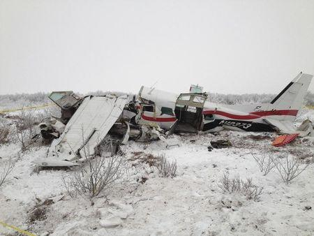 Handout photo of a Cessna 208 that crashed in southwest Alaska