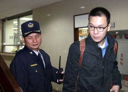"File photo of student leader of Taiwan's ""Sunflower Movement"" Lin Fei-fan arrives at the Taipei District court"