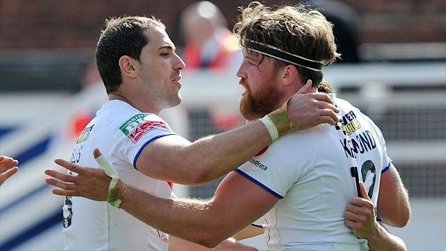 Captain Danny Kirmond, right, has urged Wakefield to 'push on'