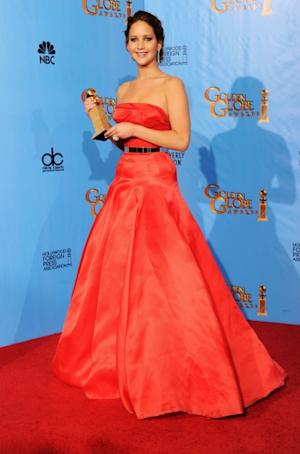 Jennifer Lawrence, winner of Best Performance by an Actress in a Motion Picture (Musical or Comedy) for 'The Silver Linings Playbook,'  poses in the press room during the 70th Annual Golden Globe Awards held at The Beverly Hilton Hotel in Beverly Hills, Calif., on January 13, 2013 -- Getty Images