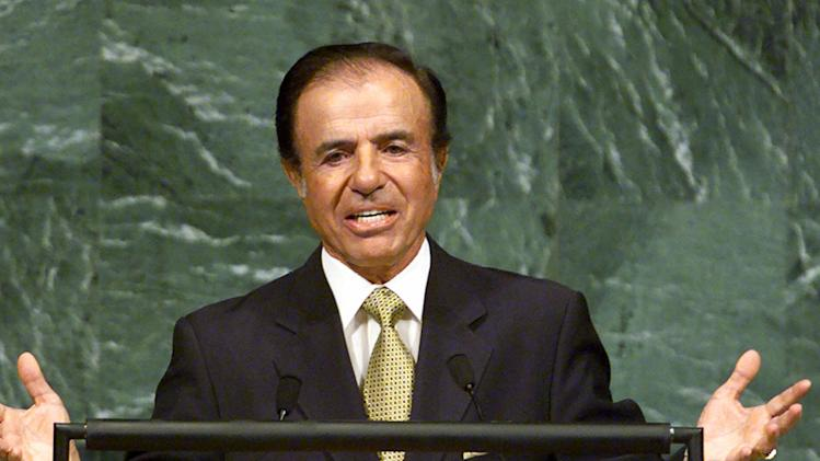 Ex-Argentine leader Menem on trial in wealth case