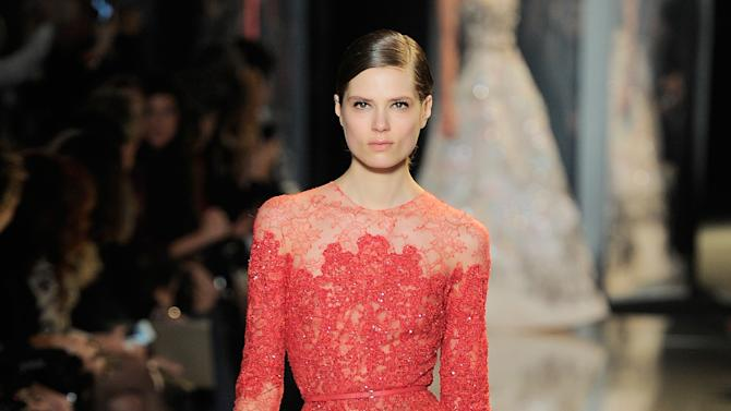 Elie Saab: Runway - Paris Fashion Week Haute-Couture Spring/Summer 2013