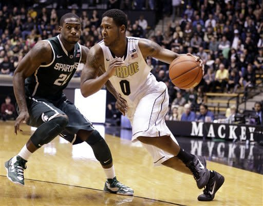 No. 12 Michigan State rolls past Purdue 78-65