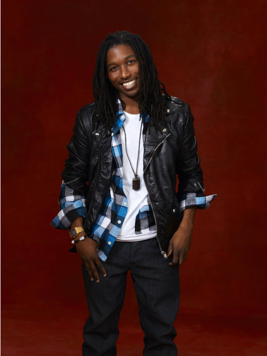"Moses Stone (Team Christina) competes in ""The Voice."""