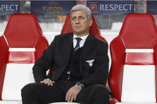 Lazio's coach Vladimir Petkovic is pictured ahead of their Europa League soccer match against VfB Stuttgart in Stuttgart