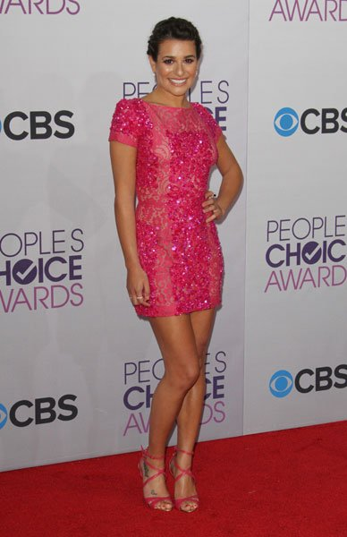 Best dressed: Lea Michele Image © Rex
