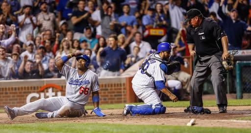 Puig leads Dodgers past Cubs 6-4