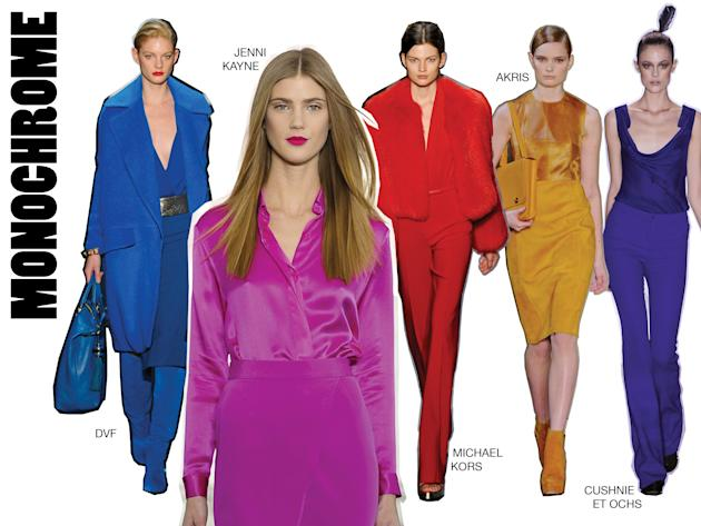 Red ruled the Fall runway, of course, but translating a head to toe look can be done in any color.…