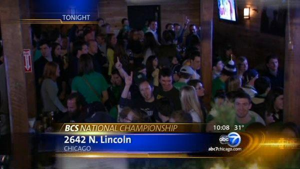 Notre Dame in Chicago watch BCS Championship
