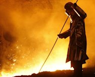&lt;p&gt;A steel worker checks a vat of molten carbon steel inside a blast furnance. South Korea&#39;s Posco, the world&#39;s fourth-largest steelmaker by output, has posted a 66 percent drop in second-quarter net profit due to high raw material costs and weak global demand.&lt;/p&gt;