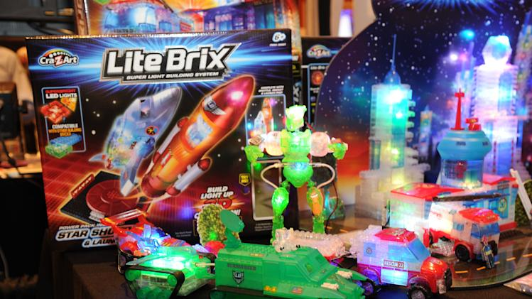IMAGE DISTRIBUTED FOR CRA-Z-ART - Toymaker Cra-Z-Art empowers girls and boys to build their worlds with light using Lite Brix construction sets seen at CES Showstoppers on Tuesday, Jan. 8, 2013 in Las Vegas, Nevada. (Photo by Al Powers/Invision for CRA-Z-ART/AP Images)