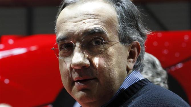 Fiat CEO Marchionne poses after the presentation of the new LaFerrari hybrid car on the Ferrari in Geneva