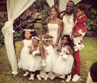 Bobby Brown and Alicia Etheredge wed in Hawaii on June 19, 2012 -- Twitter