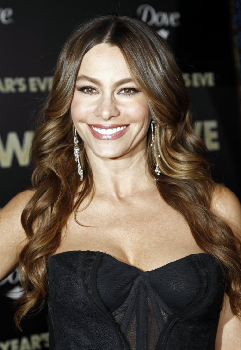 "FILE - In this Dec. 5, 2011 file photo, actress Sofia Vergara arrives at the premiere of ""New Year's Eve"" in Los Angeles. Vergara was nominated Thursday, Dec. 15, 2011 for Best Performance by an Actre"