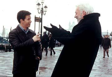Mark Wahlberg and Donald Sutherland in Paramount's The Italian Job