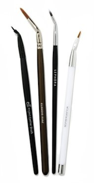 From left: Slanted brushes from e.l.f., Claudio Riaz, Sephora Collection, and Sonia Kashuk.