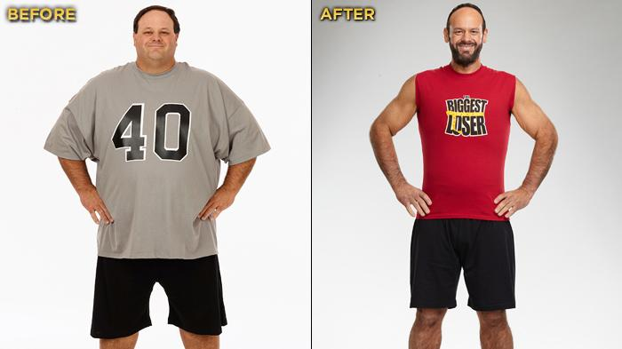 "The Season 12 champ of ""Biggest Loser"" and winner of the $250,000 prize is 41-year-old special education teacher and football coach John Rhode. He started the competition at 445 lbs. and lost a total of 225 lbs."