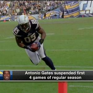 How much does San Diego Chargers tight end Antonio Gates' suspension hurt the Chargers?