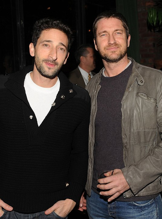 Extraordinary Measures NY Screening 2010 Adrien Brody Gerard Butler