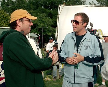 Director Jesse Dylan and Will Ferrell on the set of Universal Pictures' Kicking & Screaming