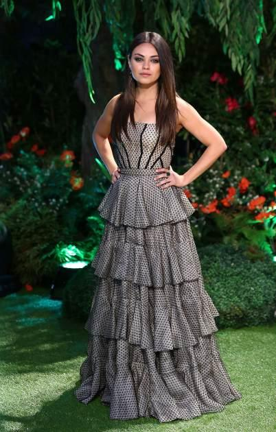 Mila Kunis rocks a ruffled gown at the UK Premiere of 'Oz: The Great and Powerful' at Empire Leicester Square in London on February 28, 2013 -- Getty Premium