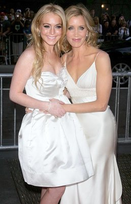 Lindsay Lohan and Felicity Huffman at the New York premiere of Universal Pictures' Georgia Rule