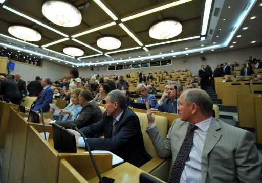 &lt;p&gt;Russia&#39;s State Duma deputies speak in May 2012. The Russian parliament on Wednesday voted to approve a contentious bill that activists fear will introduce Internet censorship by blacklisting sites deemed as undesirable.&lt;/p&gt;
