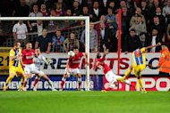 Kagisho Dikgacoi, far right, scored Palace's winner at Charlton