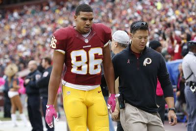 Jordan Reed leaves with concussion; situation murky for Washington, fantasy owners