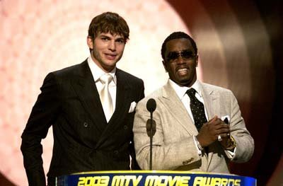 Ashton Kutcher and P. Diddy