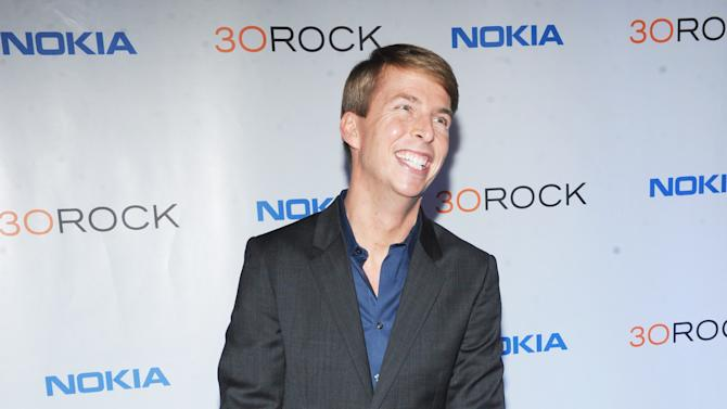 "Jack McBrayer attends the Nokia ""30 Rock"" wrap party on Thursday, Dec. 20, 2012 in New York. (Photo by Scott Gries for Nokia/AP Images)"