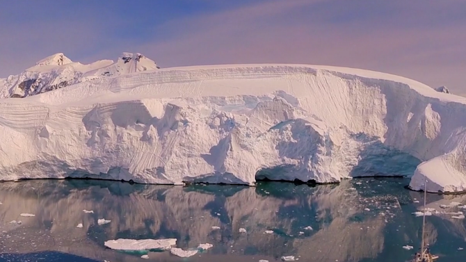 This drone footage lets you soar over gorgeous Antarctica