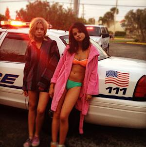 Bikini-Clad Selena Gomez Gets Arrested in Spring Breakers Movie