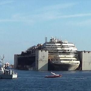 Costa Concordia Finally on the Move