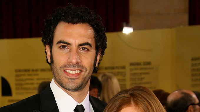 "Sacha Baron Cohen, nominee Best Adapted Screenplay for ""Borat: Cultural Learnings of America for Make Benefit Glorious Nation of Kazakhstan"" and Isla Fisher at The 79th Annual Academy Awards."