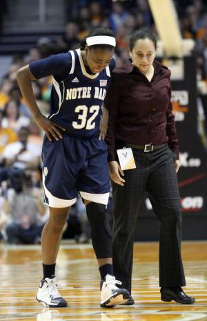Notre Dame's Loyd day-to-day with sprained knee