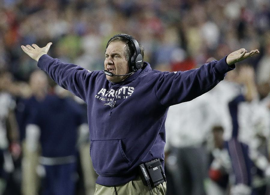 Bill Belichick, predictably, had nothing to say about deflate-gate