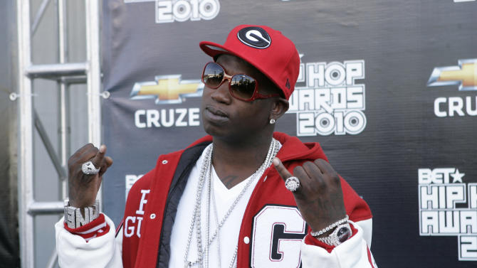 Gucci Mane arrives on the red carpet for the BET Hip Hop Awards Saturday Oct. 2, 2010, in Atlanta. (AP Photo/John Amis)