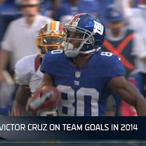 New York Giants Victor Cruz on team goals in 2014