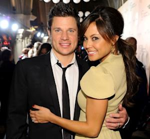 Nick Lachey and Vanessa Minnillo attend Mohegan Sun's 15th Anniversary Celebration at Mohegan Sun in Uncasville, Connecticut on October 22, 2011  -- Getty Premium