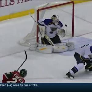 Jason Pominville roofs one on Brian Elliott