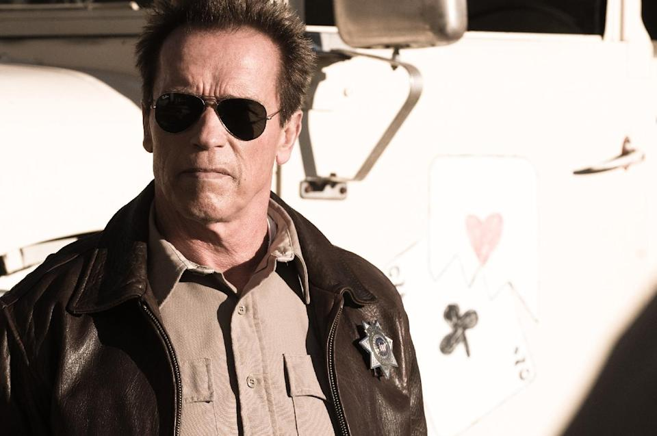 "This film image released by Lionsgate shows Arnold Schwarzenegger in a scene from, ""The Last Stand."" (AP Photo/Lionsgate, Merrick Morton)"