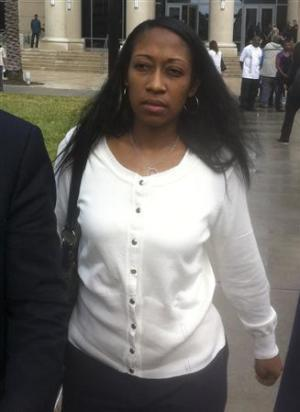 Marissa Alexander is seen after a court appearance in Jacksonville, Florida