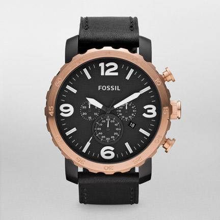 Fossil Nate Leather Watch