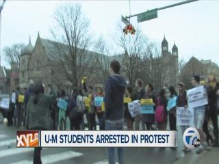 U-M student arrested in protest