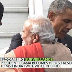 Obama Is First Sitting President to Visit India Twice