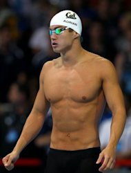 Nathan Adrian, pictured prior to swimming in the final of the Men's 100m freestyle during Day Five of the 2012 US Olympic Swimming Team Trials at CenturyLink Center, on June 29, in Omaha, Nebraska. Adrian won in 48.10sec