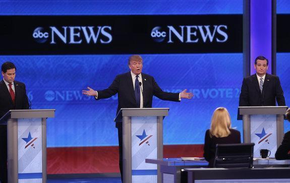 Republican Debate Turns Into a Live Saturday Night Fight